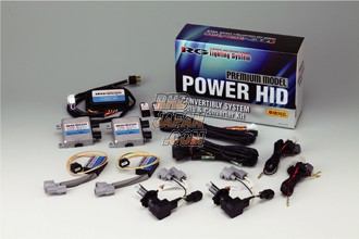 Racing Gear Halogen to HID Conversion Head Lamp Kit Premium Model Power HID Deep Blue 10000K - HB3 HB4