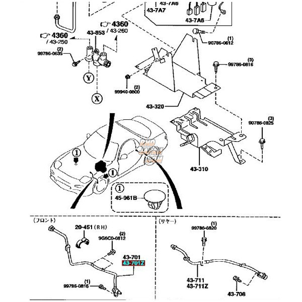 mazda oem abs sensor - front left rx-7 fd3s type vi - rhdjapan  rhdjapan