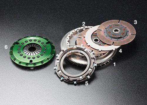 OS Giken GT Street Master Clutch Flywheel Twin Metal Hard Cover - ER34