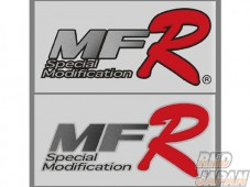 MoonFace MF-R Special Modification Logo Sticker Silver - Large
