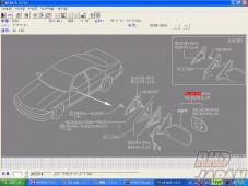 Nissan OEM Right Side Door Mirror Assembly BT2 - R33 2Dr